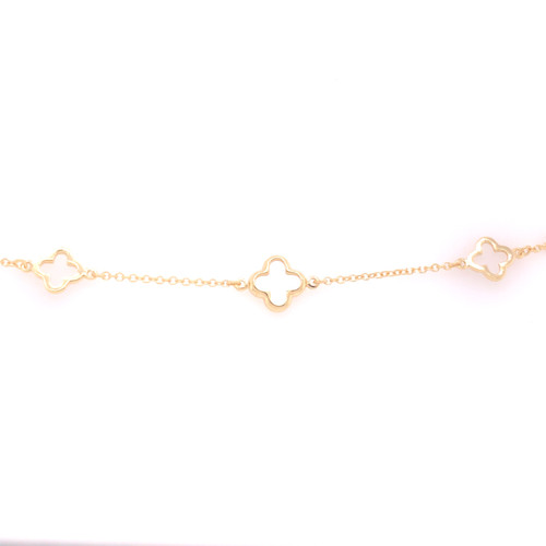 Clover Bracelet - Mother of Pearl  - Yellow Gold