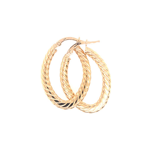 18CT Twist Oval Hoops