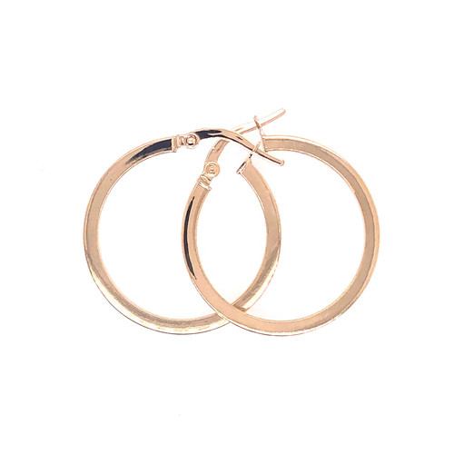 18CT Medium Square Hoops
