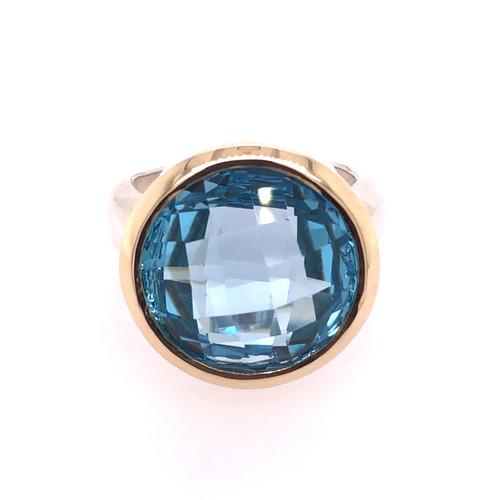 Sheridan Bezel Ring - Blue Topaz