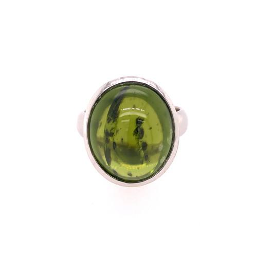 Cabochon Peridot Ring