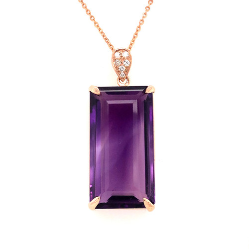 Amethyst & Diamond Delight Pendant
