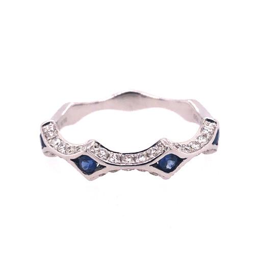 Dove Sapphire & Diamond Ring