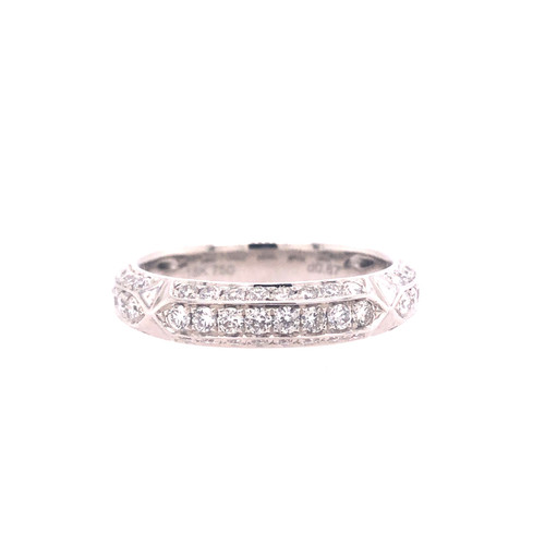 Modern Stack Diamond Ring - White Gold