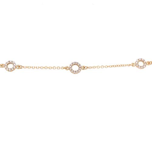 Open Circle Cubic Bracelet
