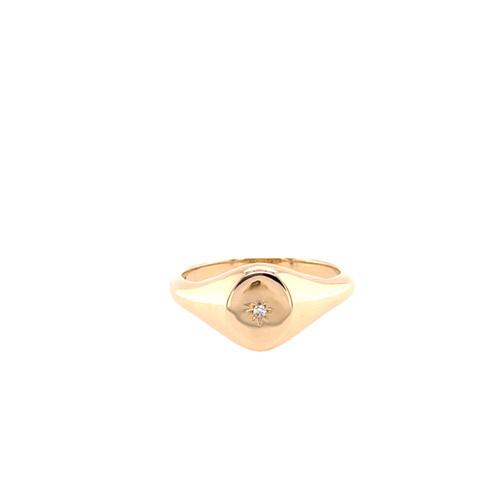 Star Diamond Signet Ring