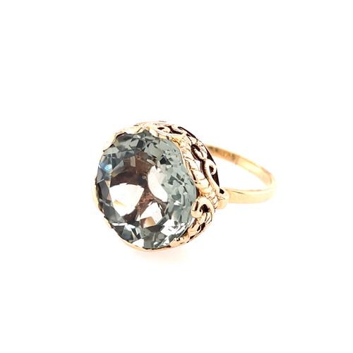 Green Amethyst Spinner Ring