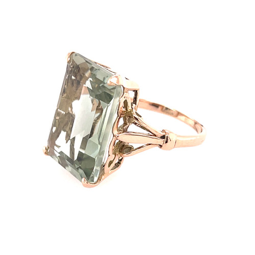 Candy Green Amethyst Ring