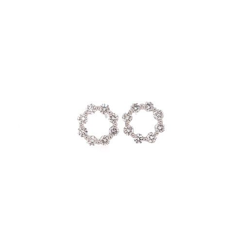 Diamond Set Circle Studs