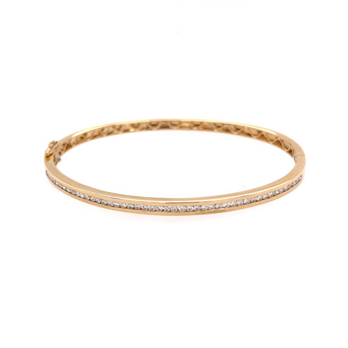 Diamond Bangle - Yellow Gold