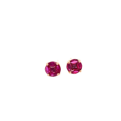 Ruby Cluster Studs