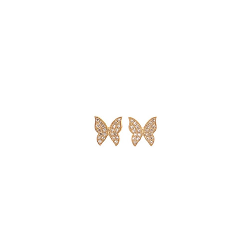 Mini Diamond Butterfly Studs