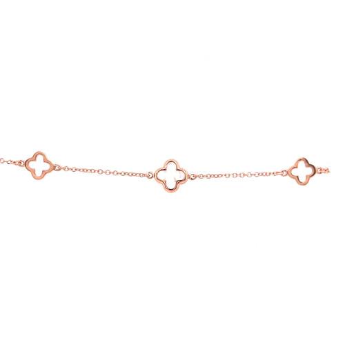 Mother of Pearl Clover & Clover Bracelet - Rose Gold