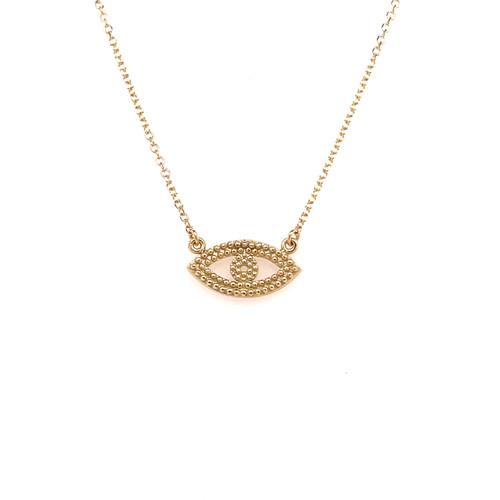 Open Evil Eye Necklace