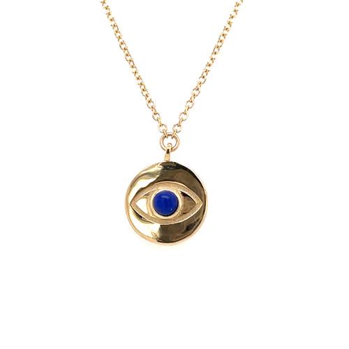 Lapis Evil Eye Necklace