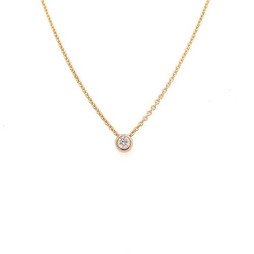 Diamond Slider Necklace - 0.08CT