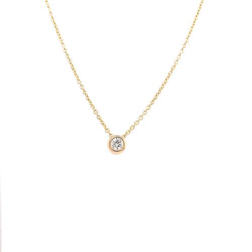 Diamond Slider Necklace -  0.11CT