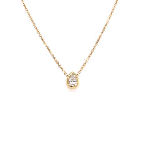 Pear-Shaped Diamond Slider Necklace