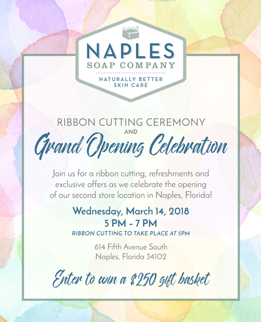 Naples Soap Company to celebrate grand opening of 5th Avenue South store in Naples on March 14