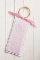 Linen Wrap with Bag in Pink