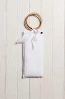 Linen Wrap with Bag in White