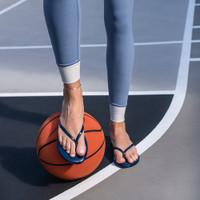 Flip Flops Navy Patent Lifestyle