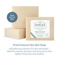 Fresh Coconut Sea Salt Soap Description