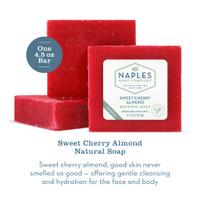 Sweet Cherry Almond Natural Soap Description