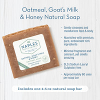 Oatmeal Goat's Milk and Honey Natural Soap Benefits