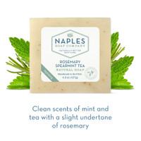 Rosemary Spearmint Tea Natural Soap Short Description