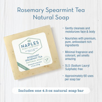Rosemary Spearmint Tea Natural Soap Key Benefits