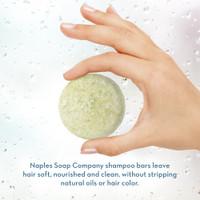 Coconut Lime Shampoo Bar Hand Info