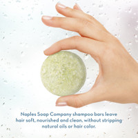 Coconut Lime Shampoo Bar Hand Info