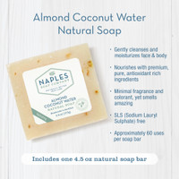 Almond Coconut Water Natural Soap Key Benefits