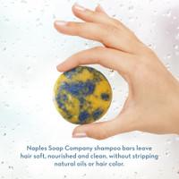 Ocean Breeze Shampoo Bar Hand Info