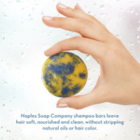 Ocean Breeze Shampoo Bar Hand Info