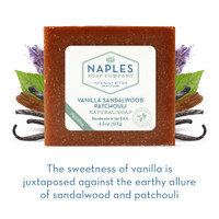 Vanilla Sandalwood Patchouli Natural Soap Short Description