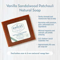 Vanilla Sandalwood Patchouli Natural Soap Key Benefits