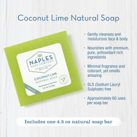Coconut Lime Natural Soap Key Benefits