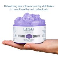 Lavender Vanilla Sea Salt Scrub Open Hand Display