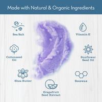 Lavender Vanilla Sea Salt Scrub Ingredients
