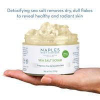 Unscented Sea Salt Scrub Open Hand Display