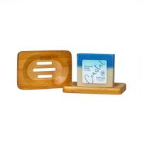 Rectangle Bamboo Soap Dish with Coastal Soap