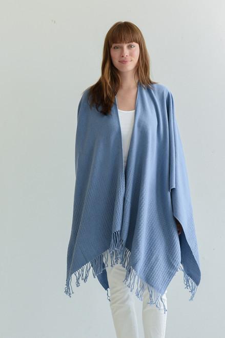 Travel Wrap with Bag in Atlantic Medium Blue
