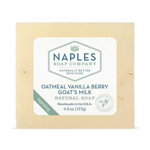 Oatmeal Vanilla Berry Goats Milk Natural Soap
