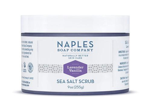 Lavender Vanilla Sea Salt Scrub 9 oz