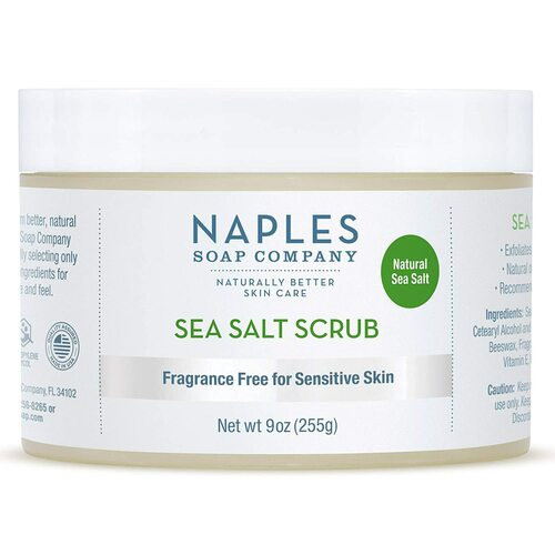 Fragrance Free Sea Salt Scrub 9 oz