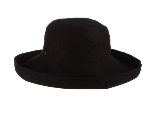 Black Cotton Brim Hat