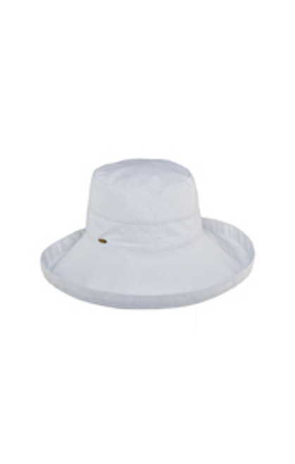 White Cotton Brim Hat