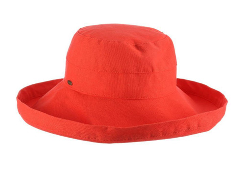 Coral Cotton Brim Hat